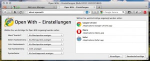Firefox Add-On Open With unter OSX